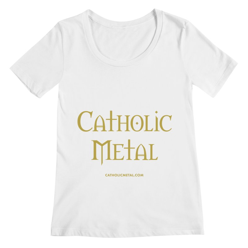 Catholic Metal Logo Women's Regular Scoop Neck by Catholic Metal Merch