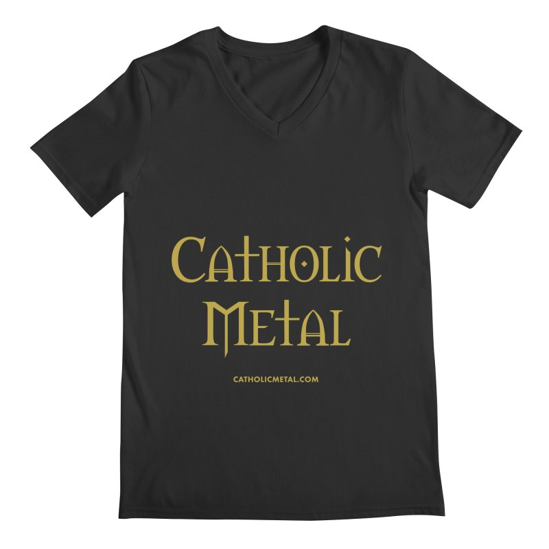 Catholic Metal Logo Men's V-Neck by Catholic Metal Merch