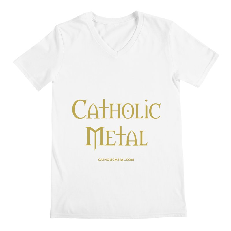 Catholic Metal Logo Men's Regular V-Neck by Catholic Metal Merch