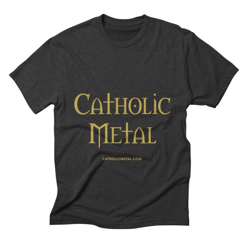 Catholic Metal Logo Men's Triblend T-shirt by Catholic Metal Merch