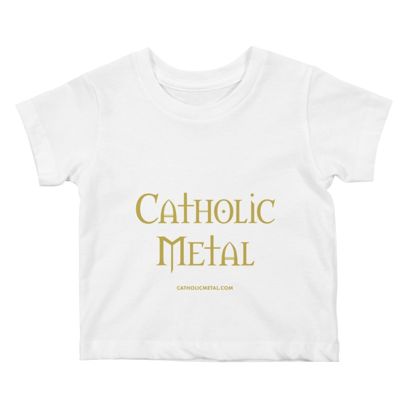 Catholic Metal Logo Kids Baby T-Shirt by Catholic Metal Merch