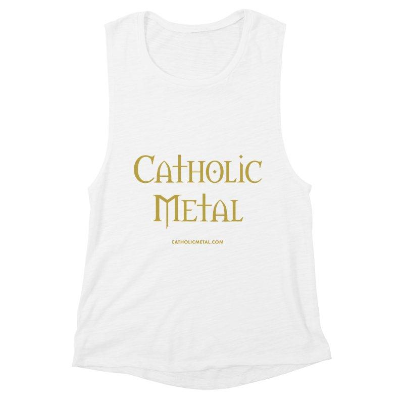 Catholic Metal Logo Women's Tank by Catholic Metal Merch
