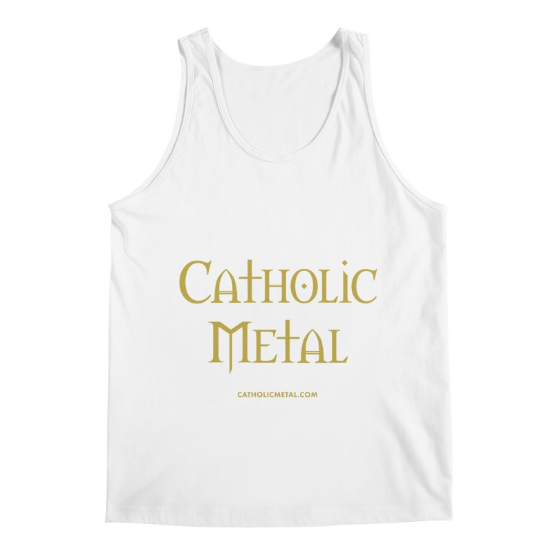 Catholic Metal Logo Men's Tank by Catholic Metal Merch