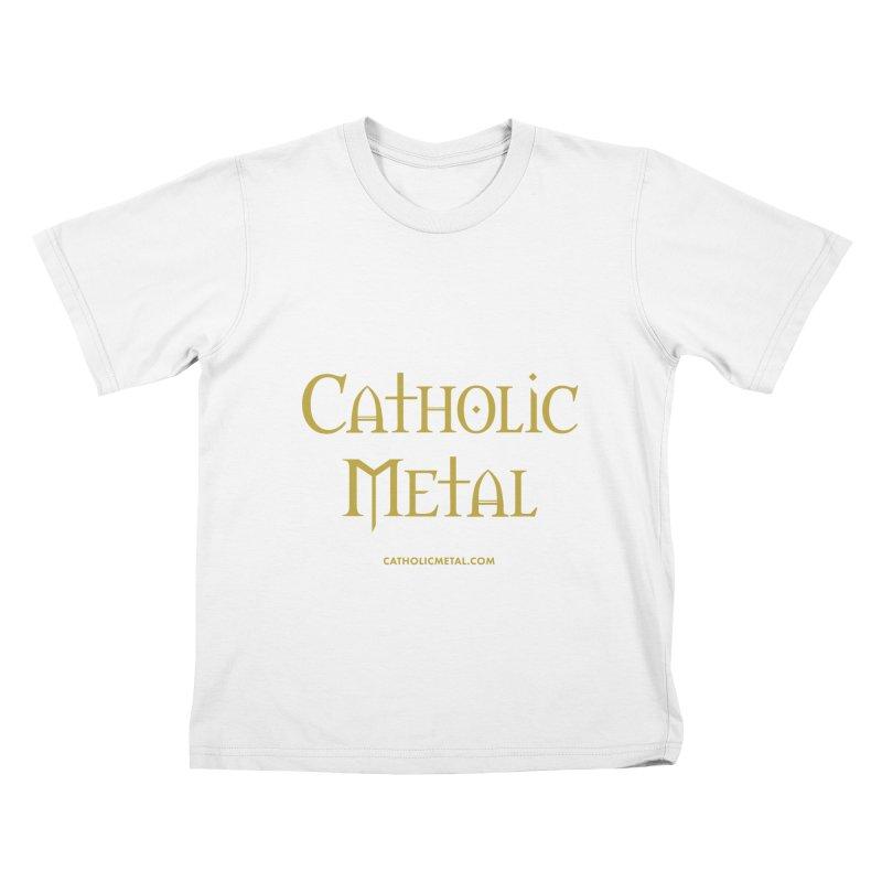 Catholic Metal Logo Kids T-Shirt by Catholic Metal Merch