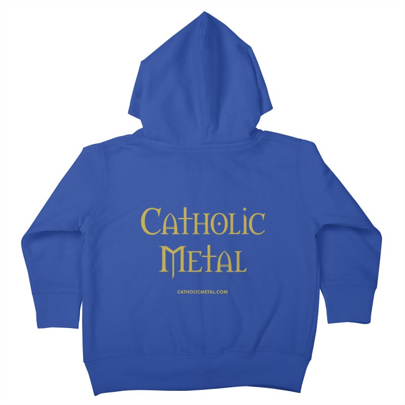 Catholic Metal Logo Kids Toddler Zip-Up Hoody by Catholic Metal Merch
