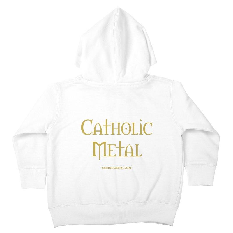 Catholic Metal Logo Kids Toddler Zip-Up Hoody by Catholic Metal Merch