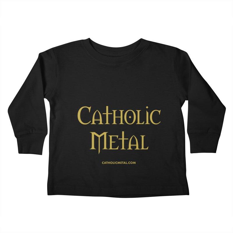 Catholic Metal Logo Kids Toddler Longsleeve T-Shirt by Catholic Metal Merch