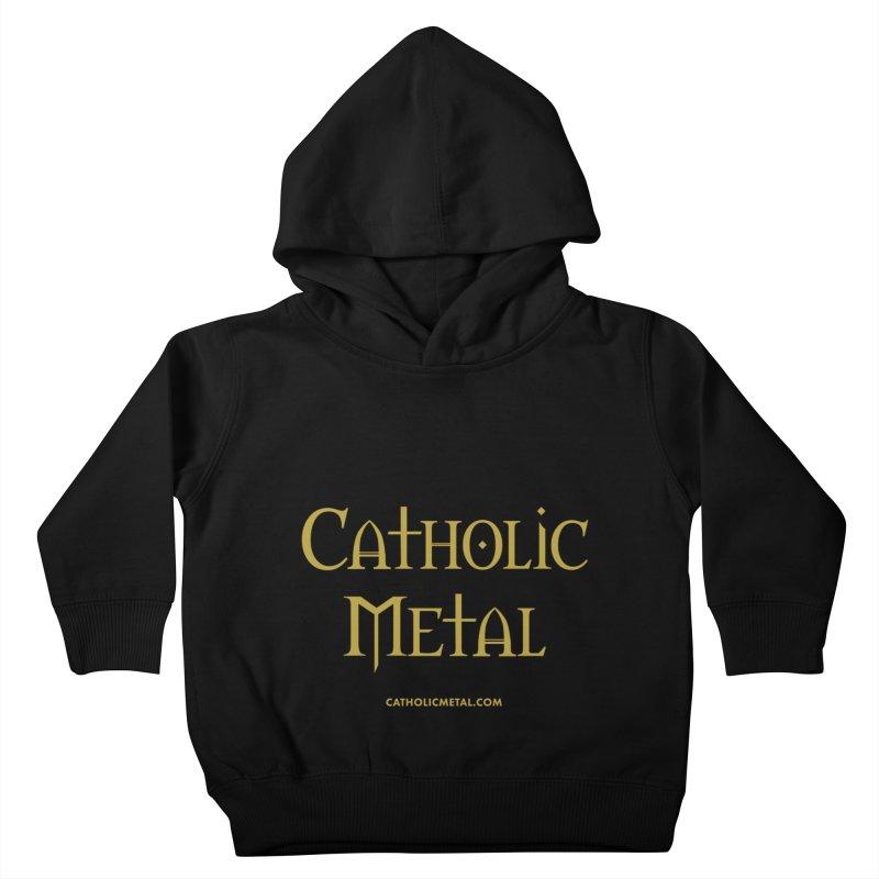 Catholic Metal Logo Kids Toddler Pullover Hoody by Catholic Metal Merch