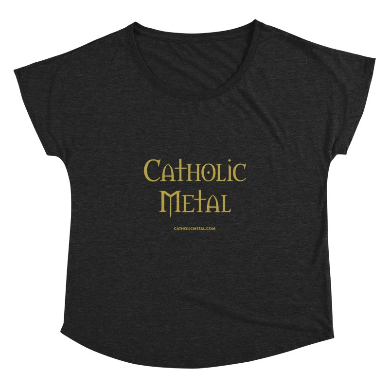 Catholic Metal Logo Women's Dolman Scoop Neck by Catholic Metal Merch