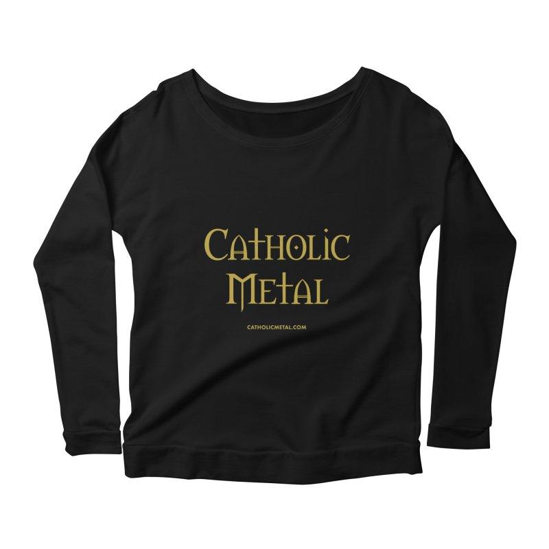Catholic Metal Logo Women's Scoop Neck Longsleeve T-Shirt by Catholic Metal Merch