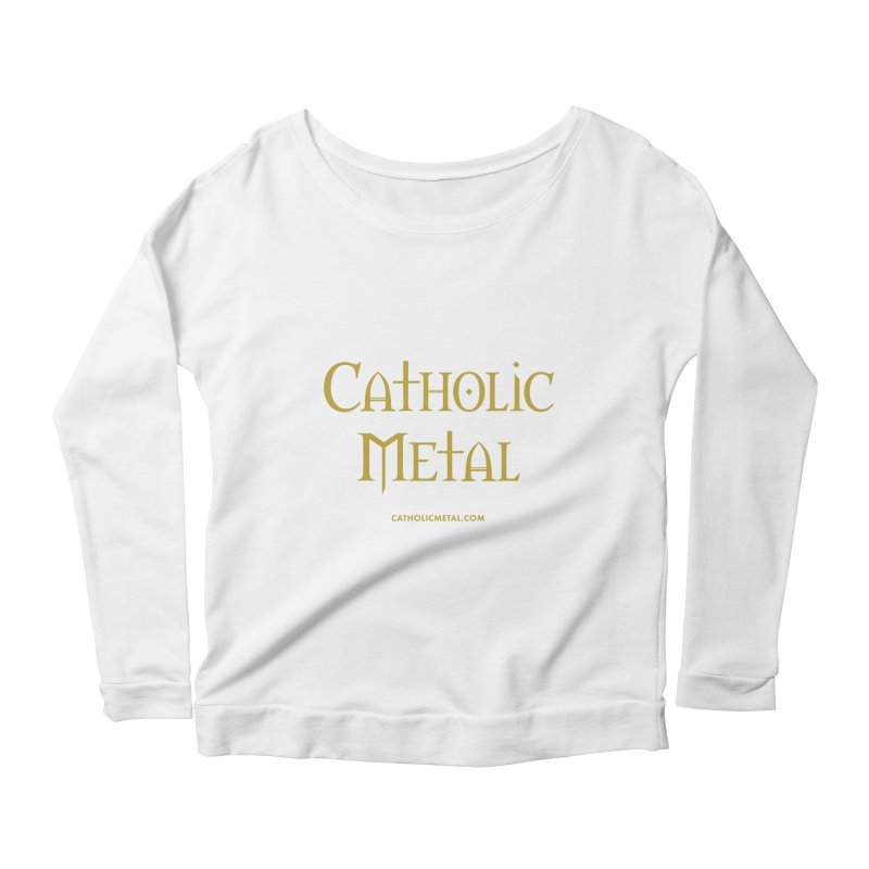 Catholic Metal Logo Women's Longsleeve Scoopneck  by Catholic Metal Merch