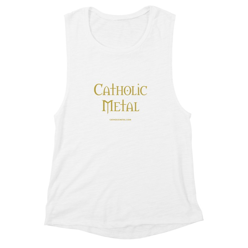 Catholic Metal Logo Women's Muscle Tank by Catholic Metal Merch