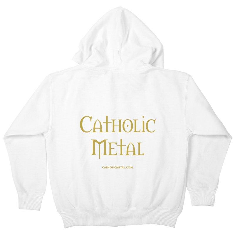 Catholic Metal Logo Kids Zip-Up Hoody by Catholic Metal Merch