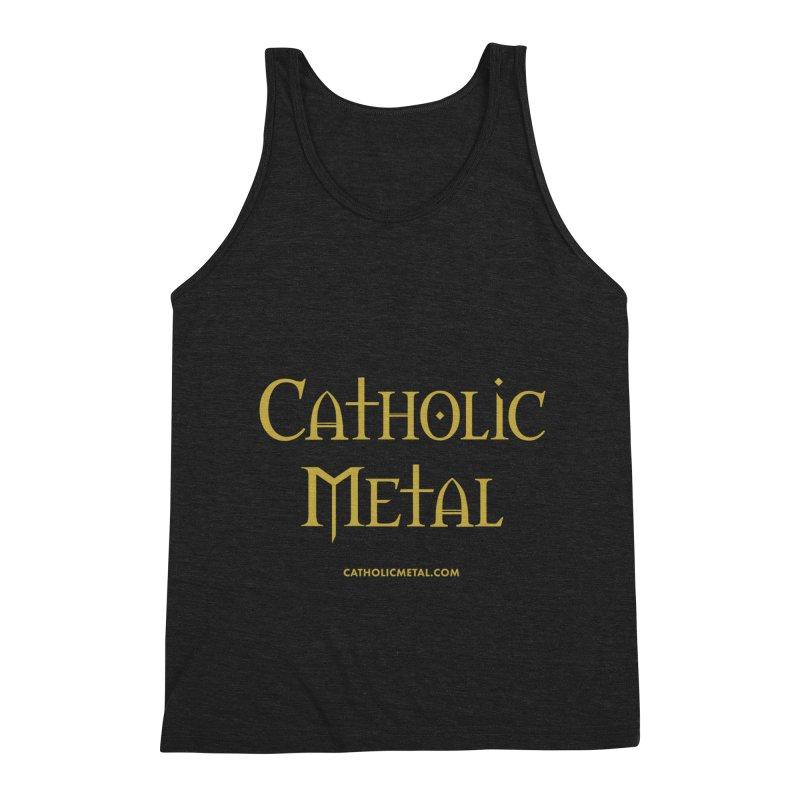 Catholic Metal Logo Men's Triblend Tank by Catholic Metal Merch