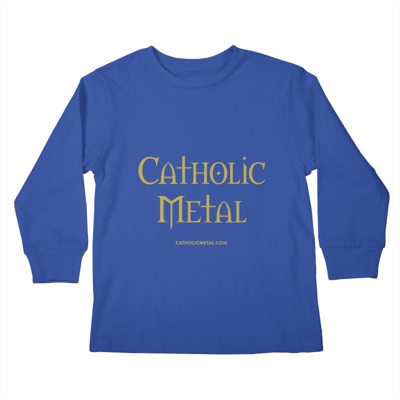Catholic Metal Logo Kids Longsleeve T-Shirt by Catholic Metal Merch