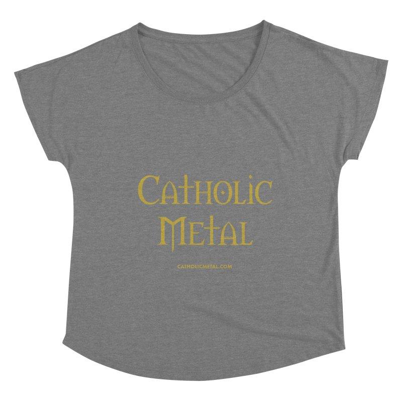 Catholic Metal Logo Women's Scoop Neck by Catholic Metal Merch
