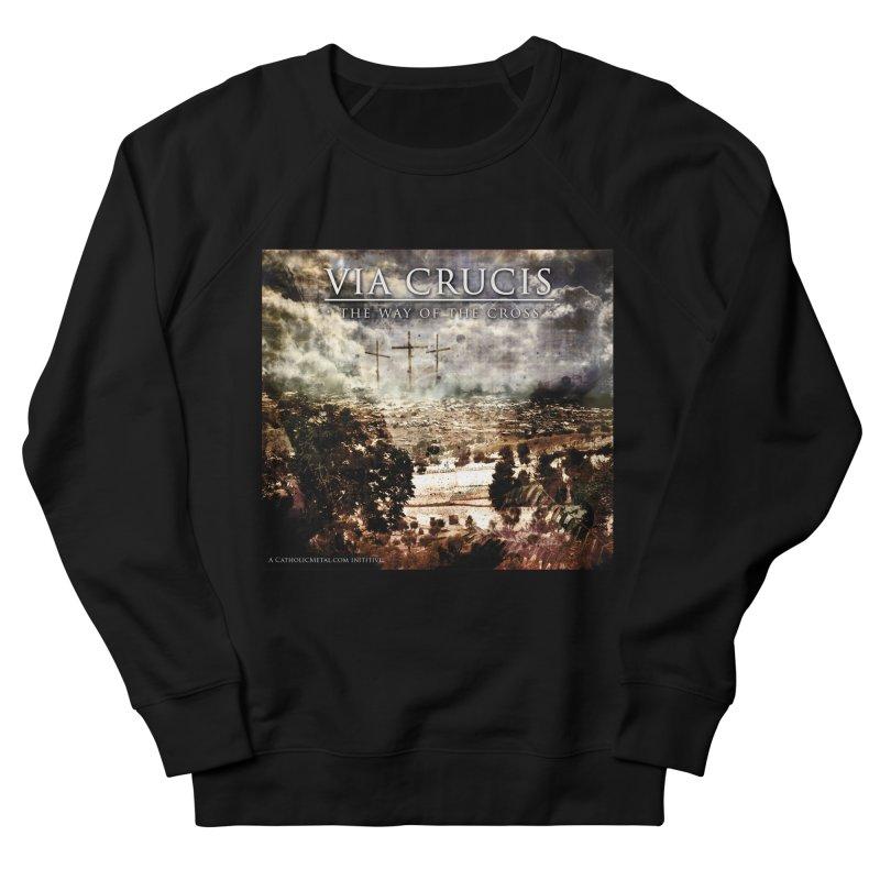 Via Crucis, The Way of the Cross Women's Sweatshirt by Catholic Metal Merch