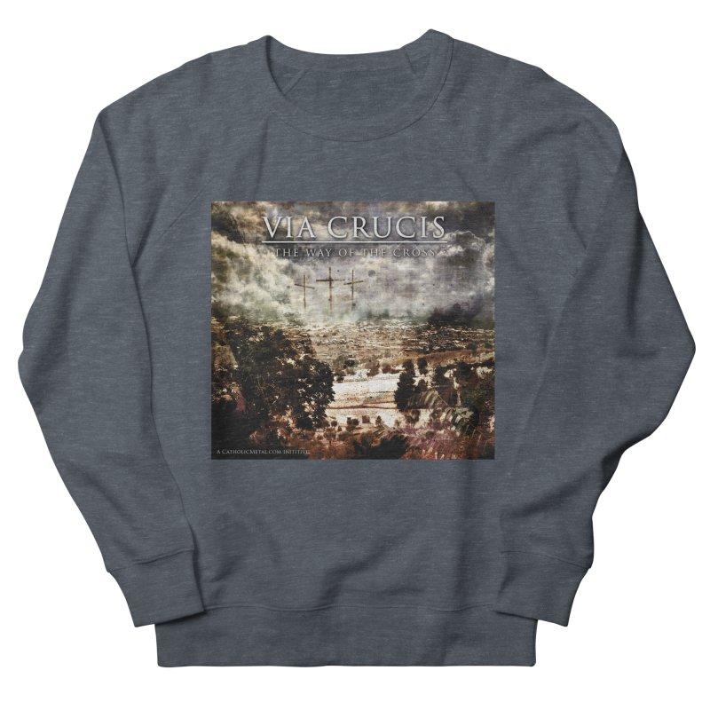 Via Crucis, The Way of the Cross Men's Sweatshirt by Catholic Metal Merch