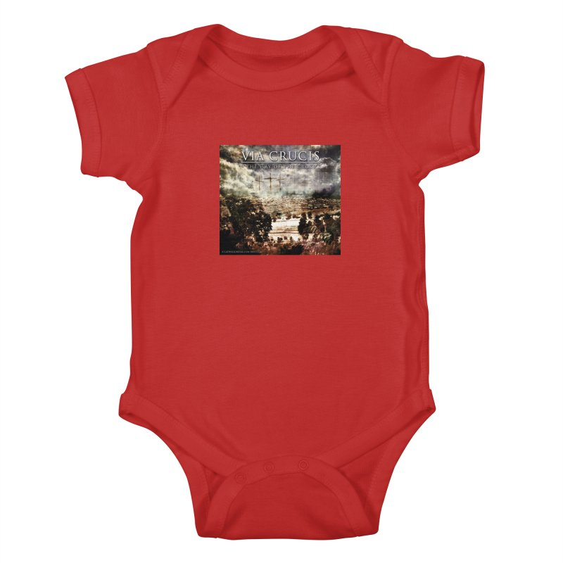 Via Crucis, The Way of the Cross Kids Baby Bodysuit by Catholic Metal Merch