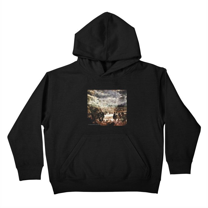 Via Crucis, The Way of the Cross Kids Pullover Hoody by Catholic Metal Merch