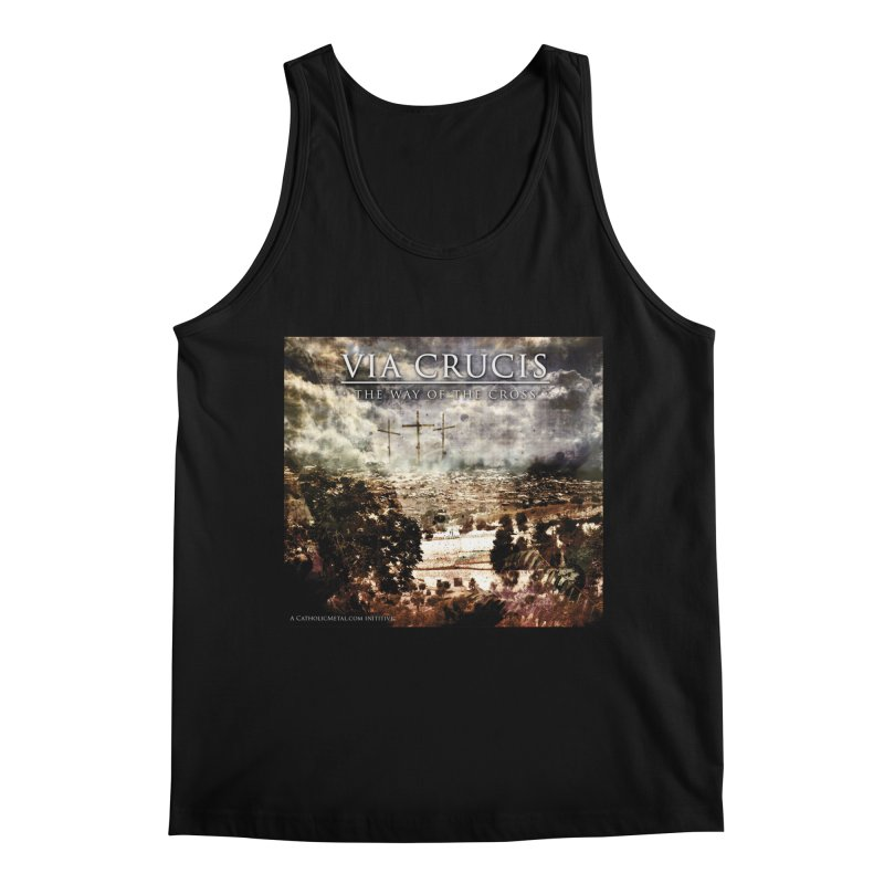 Via Crucis, The Way of the Cross Men's Regular Tank by Catholic Metal Merch