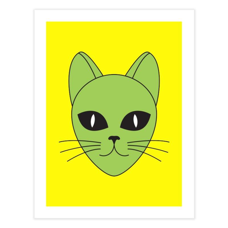 ALIEN CAT Home Bath Mat by CAT IN ORBIT Artist Shop