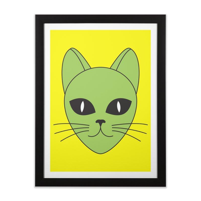 ALIEN CAT Home Framed Fine Art Print by CAT IN ORBIT Artist Shop