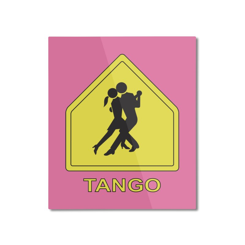 TANGO ZONE Home Mounted Aluminum Print by CAT IN ORBIT Artist Shop