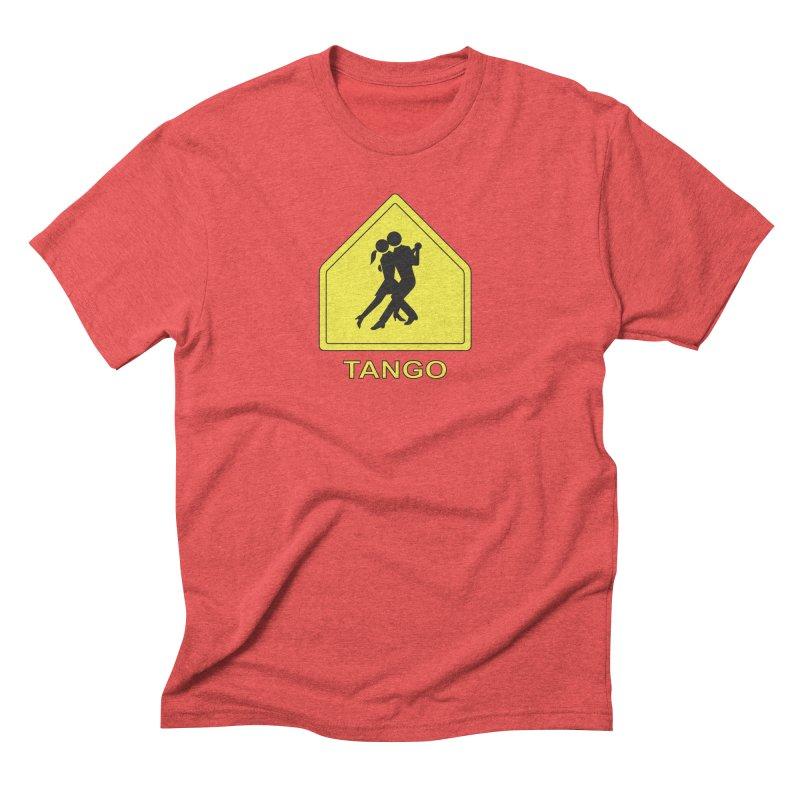TANGO ZONE Men's Triblend T-Shirt by CAT IN ORBIT Artist Shop