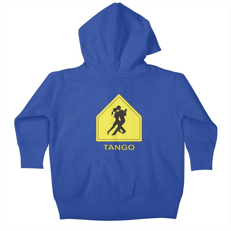 TANGO ZONE Kids Baby Zip-Up Hoody by CAT IN ORBIT Artist Shop
