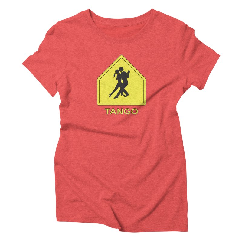 TANGO ZONE Women's Triblend T-Shirt by CAT IN ORBIT Artist Shop