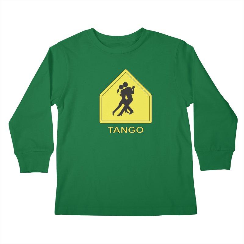 TANGO ZONE Kids Longsleeve T-Shirt by CAT IN ORBIT Artist Shop