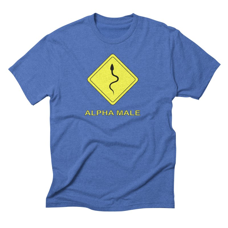 ALPHA MALE Men's Triblend T-Shirt by CAT IN ORBIT Artist Shop