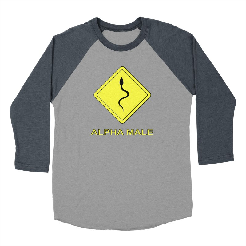ALPHA MALE Men's Baseball Triblend T-Shirt by CAT IN ORBIT Artist Shop