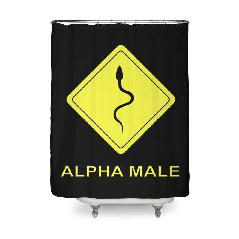 ALPHA MALE Home Shower Curtain by CAT IN ORBIT Artist Shop