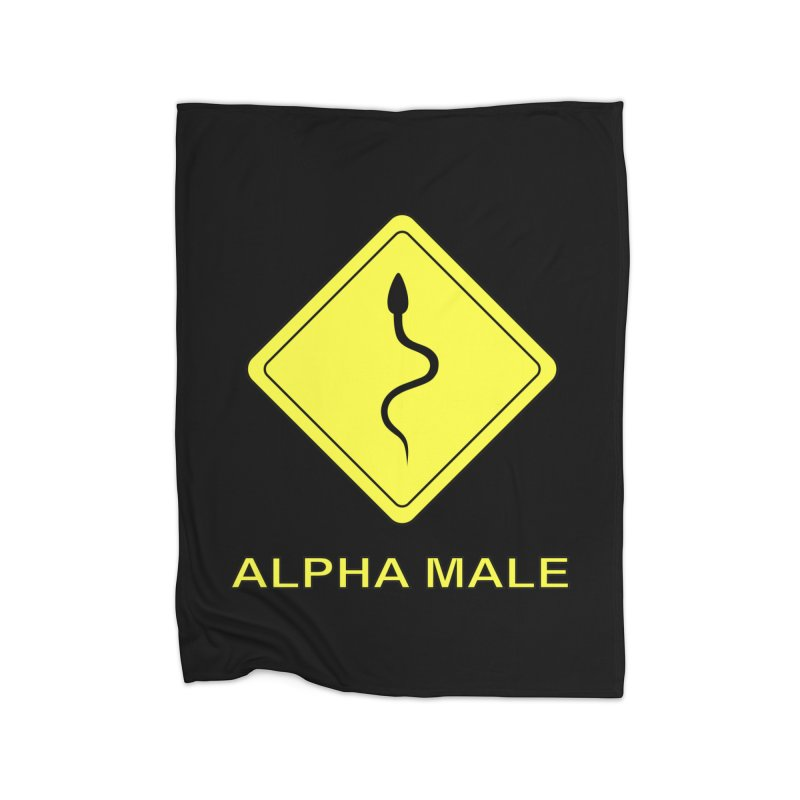 ALPHA MALE Home Blanket by CAT IN ORBIT Artist Shop