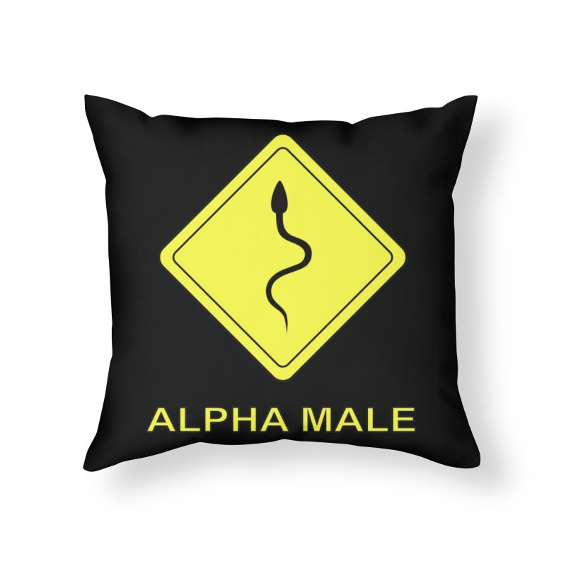 ALPHA MALE Home Throw Pillow by CAT IN ORBIT Artist Shop