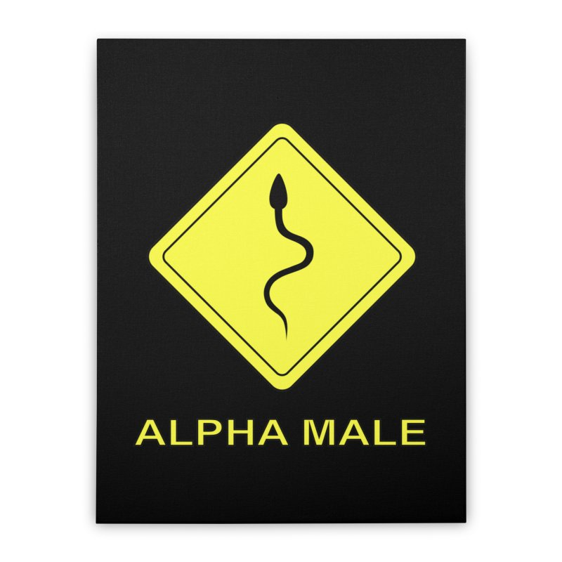 ALPHA MALE Home Stretched Canvas by CAT IN ORBIT Artist Shop