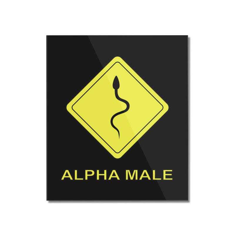 ALPHA MALE Home Mounted Acrylic Print by CAT IN ORBIT Artist Shop