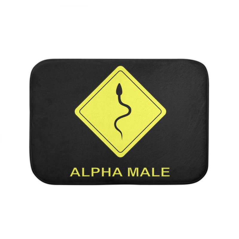 ALPHA MALE Home Bath Mat by CAT IN ORBIT Artist Shop