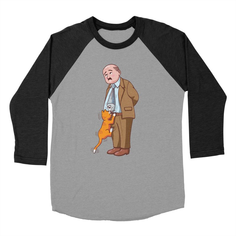 FISH-TIE CAT Men's Baseball Triblend T-Shirt by CAT IN ORBIT Artist Shop