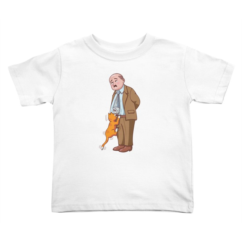 FISH-TIE CAT Kids Toddler T-Shirt by CAT IN ORBIT Artist Shop