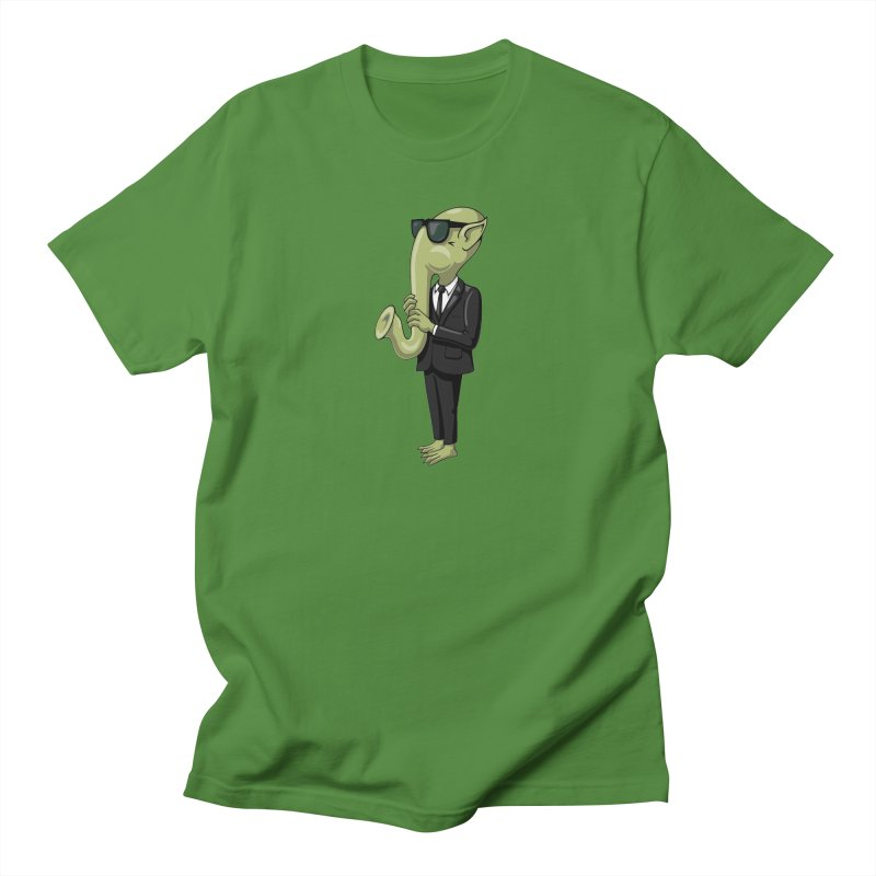 ALIEN SAX PLAYER Women's Unisex T-Shirt by CAT IN ORBIT Artist Shop