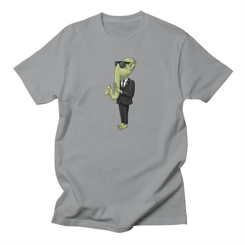 ALIEN SAX PLAYER Men's T-Shirt by CAT IN ORBIT Artist Shop