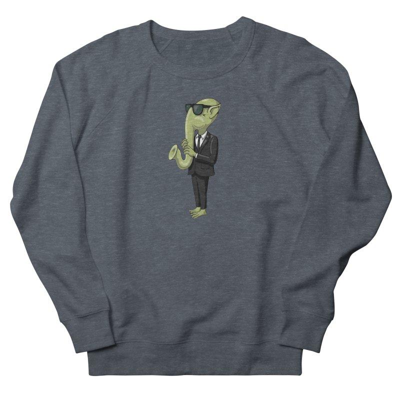ALIEN SAX PLAYER Women's Sweatshirt by CAT IN ORBIT Artist Shop