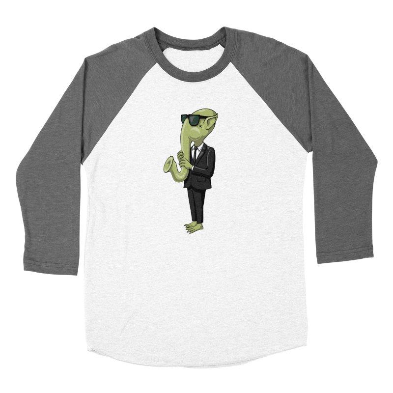 ALIEN SAX PLAYER Men's Baseball Triblend T-Shirt by CAT IN ORBIT Artist Shop