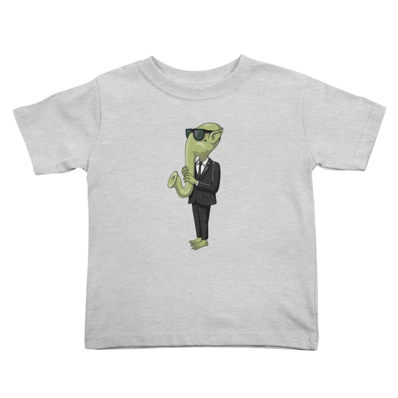 ALIEN SAX PLAYER Kids Toddler T-Shirt by CAT IN ORBIT Artist Shop