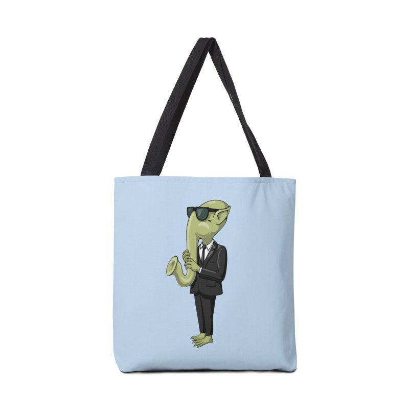 ALIEN SAX PLAYER Accessories Bag by CAT IN ORBIT Artist Shop
