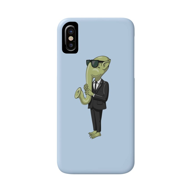 ALIEN SAX PLAYER Accessories Phone Case by CAT IN ORBIT Artist Shop