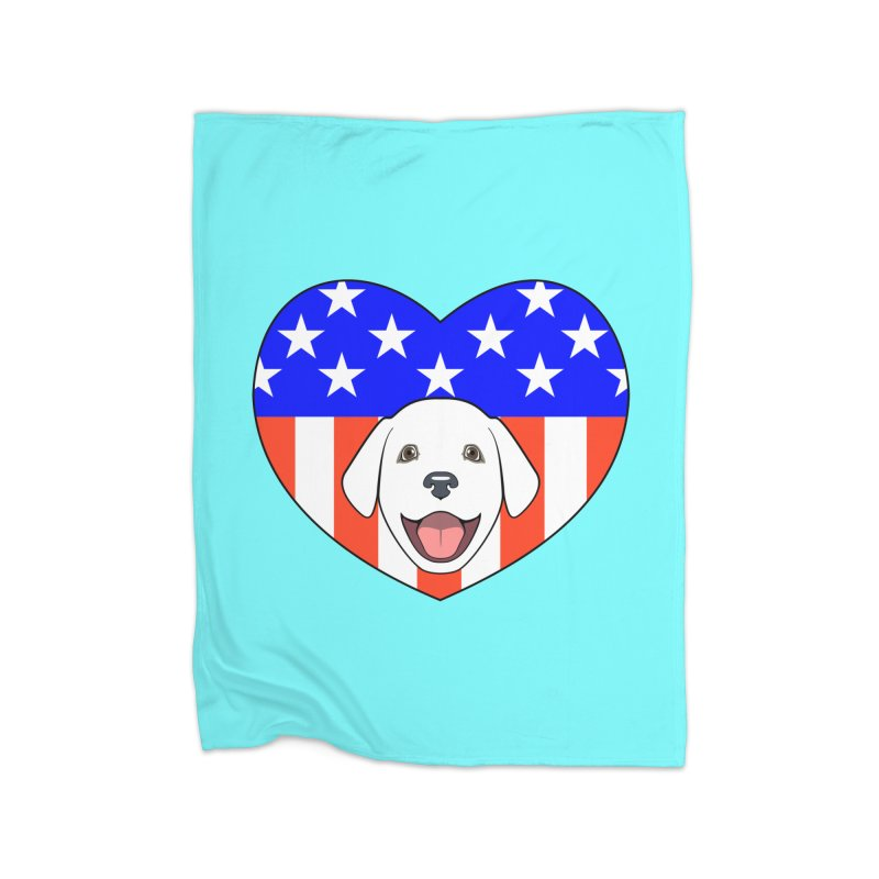 ALL AMERICAN DOG LOVER Home Blanket by CAT IN ORBIT Artist Shop
